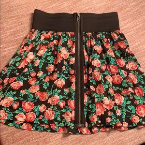 Victoria's Secret Zip Front Floral Skirt